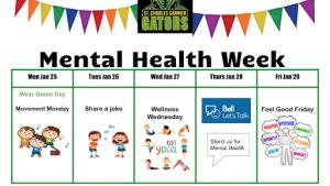 Mental Health Wellness Week!