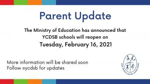 We Welcome Back All Staff and Students on Tuesday, February 16th!