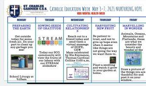 CATHOLIC EDUCATION WEEK MAY 3-7th, 2021